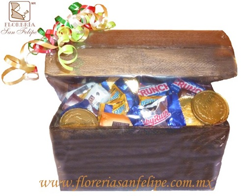 Cofre Mediano Con Chocolates